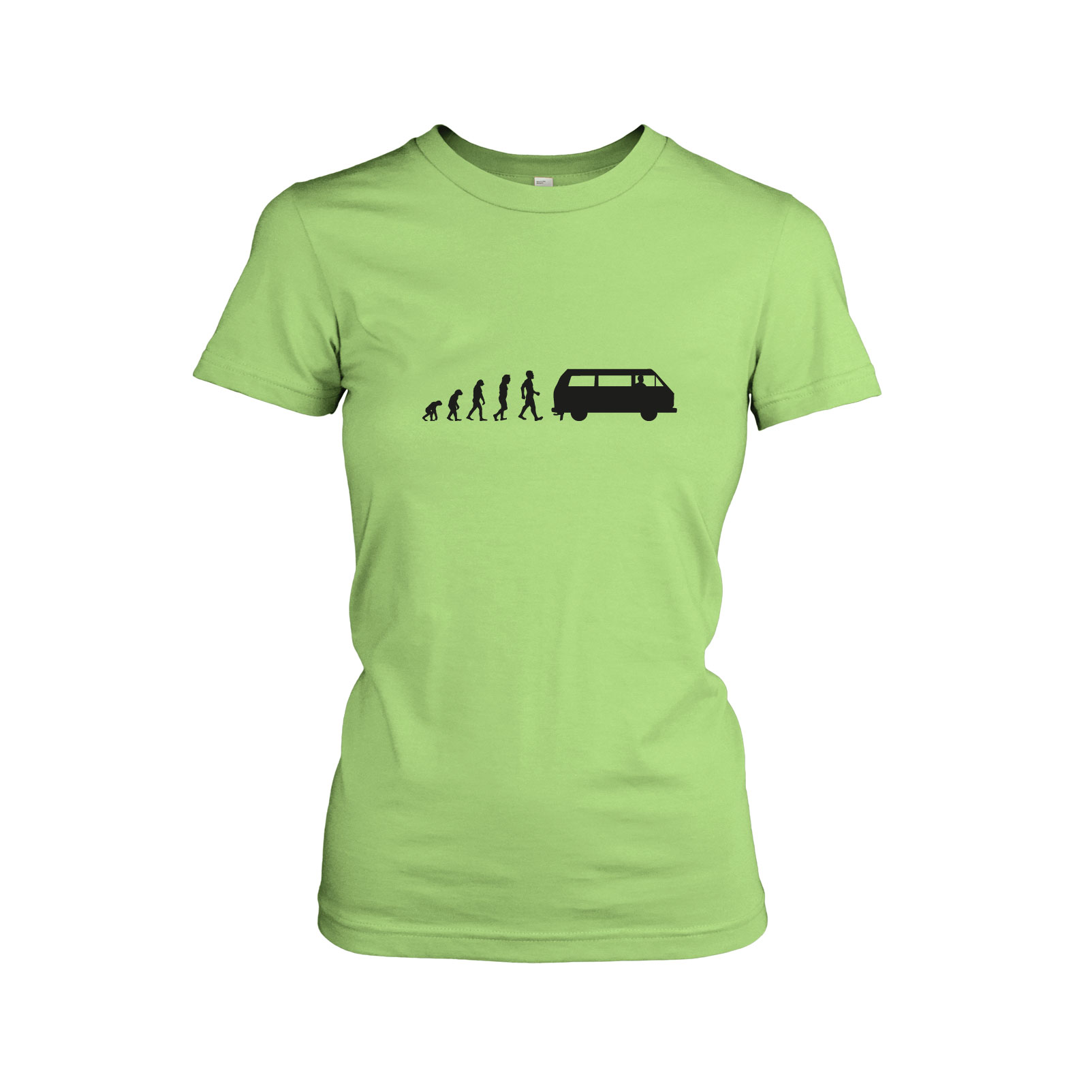 bulli t3 evolution damen t shirt bus wagen sommer surfen ebay. Black Bedroom Furniture Sets. Home Design Ideas